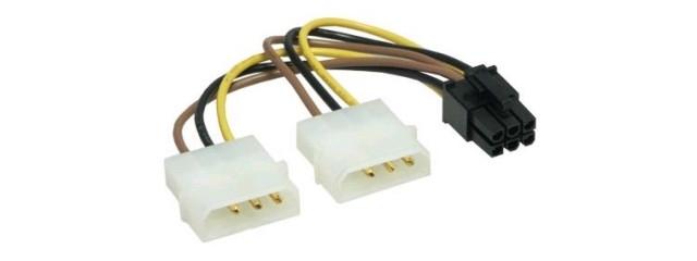 Adaptateur Molex vers PCI-E 6 pins