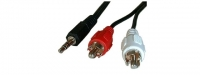 Cordon Audio - Jack 3.5mm - 2 x RCA 2m