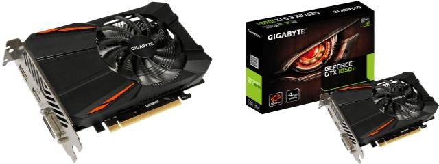 GIGABYTE GTX 1050Ti en 4Go