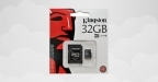 Kingston Micro SDHC 32Go + Adaptateur